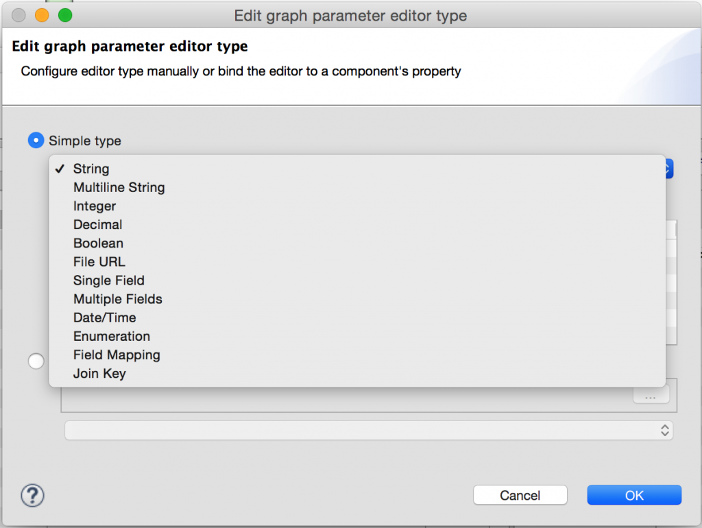 Atribute editor in CloverETL 4.1 milestone release