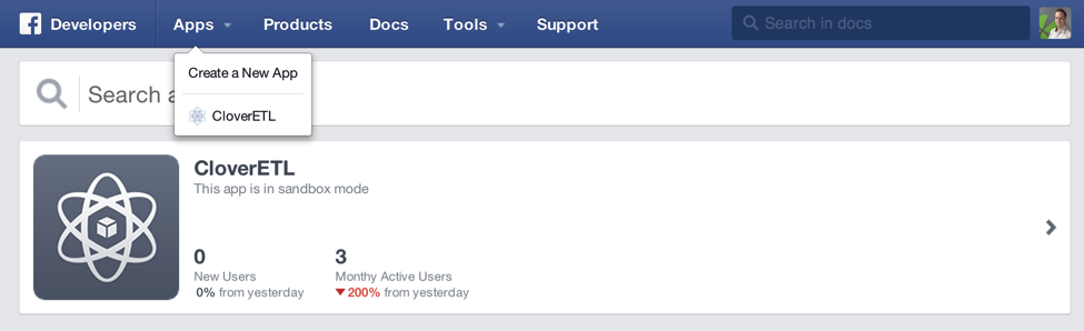 CloverETL and Facebook Graph API