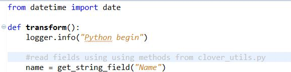 Python scripts integration with CloverETL