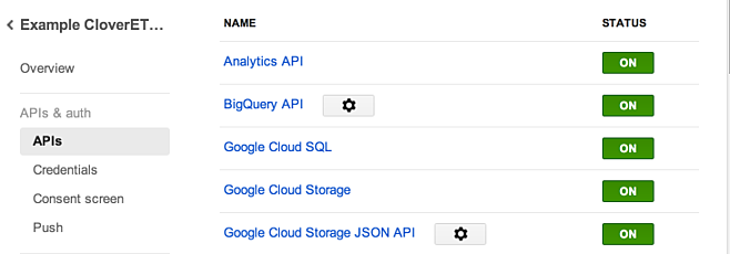 Accessing Google API - Google Analytics using CloverETL