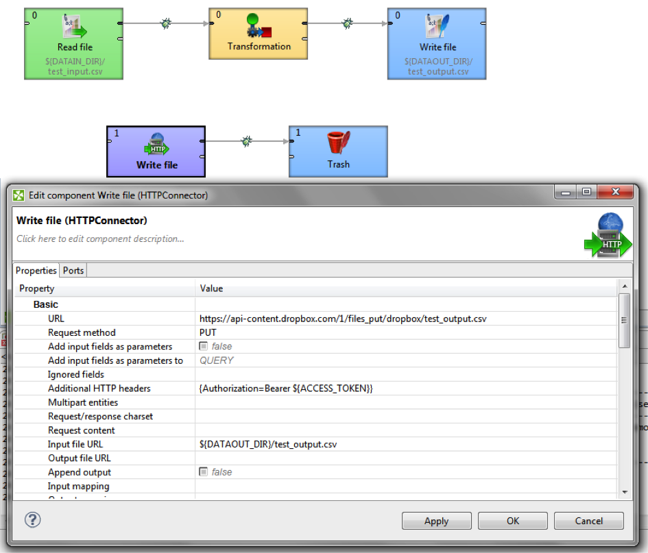 FileUploadDropboxCloverETL - Dropbox Core API