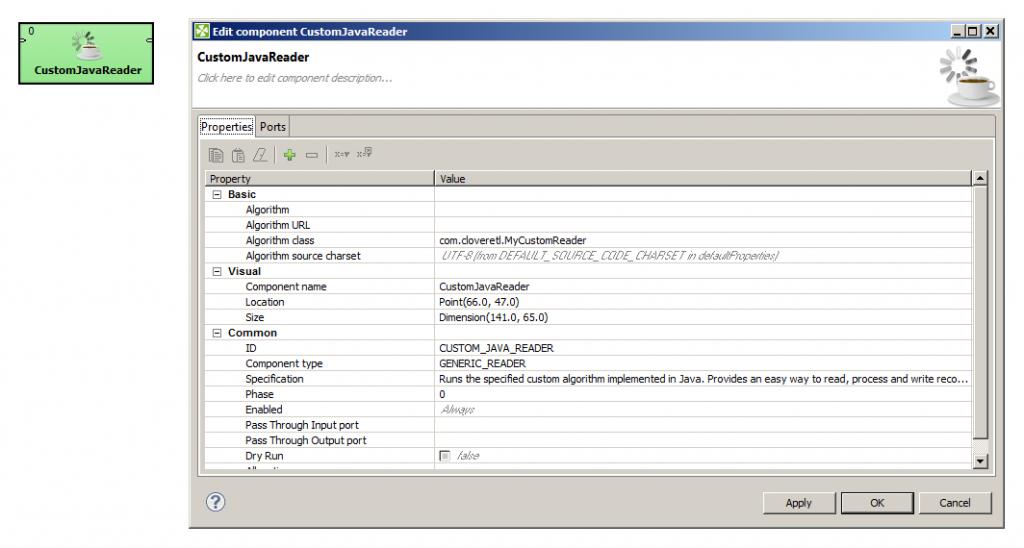 Generic Java Component in CloverETL 4.1 milestone release
