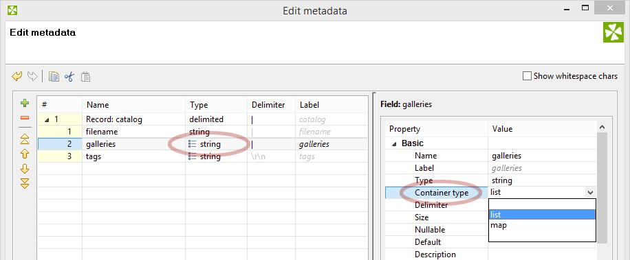 Parsing list data. Set CloverETL to list or map.
