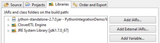 Adding Java SE into CloverETL for Python scripts integration.