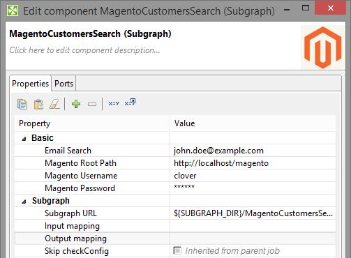 Setting up subgraph for Magento API