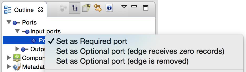 Optional port in CloverETL 4.1 Milestone Release.