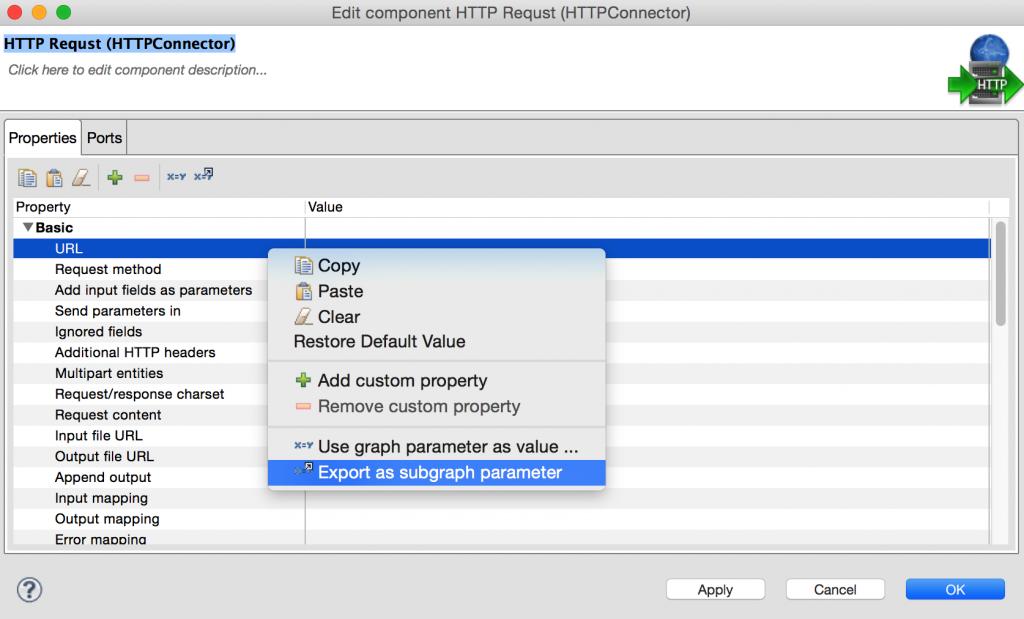 Parametrising of a subraph in CloverETL 4.0 - Simplify data integration