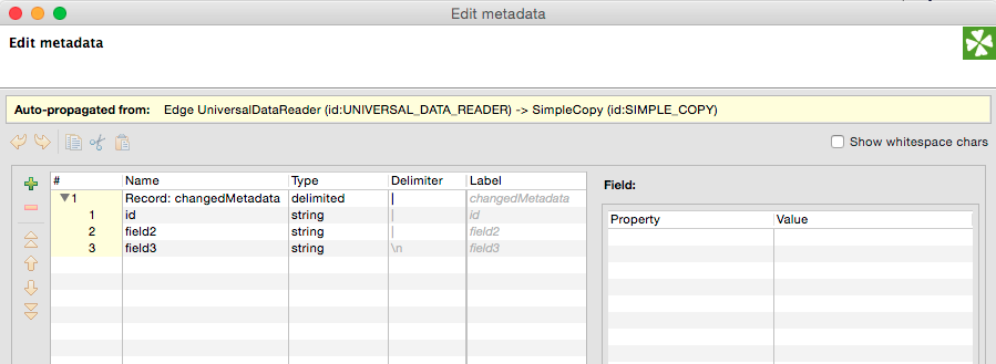 Understanding metadata propagation for fast data integration jobs in CloverETL. Referenced metadata.