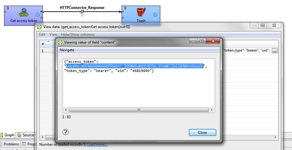 ViewDataCloverETLDropbox - Dropbox Core API