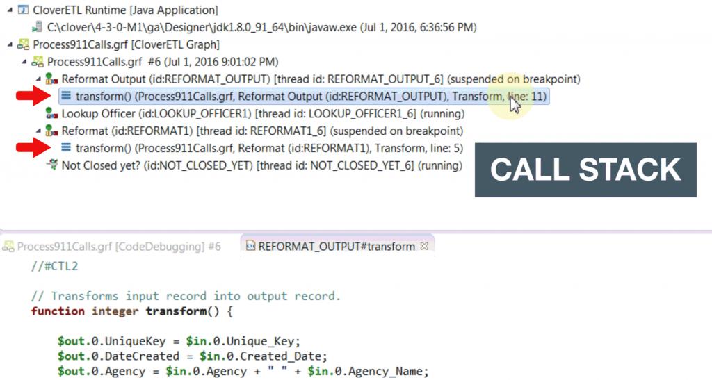 Code Debugging Call Stack
