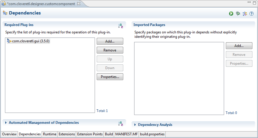 Add com.cloveretl.gui to Required plug-ins