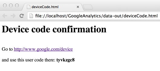 deviceCode.html google api